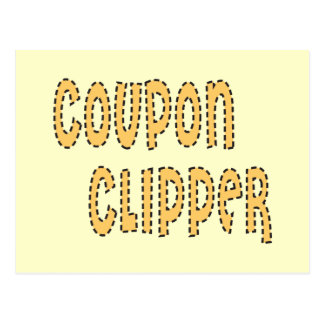 Coupon Clipper Postcard