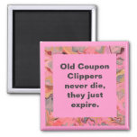 coupon clippers joke 2 inch square magnet