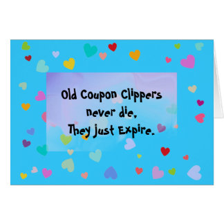 coupon clipping humor card