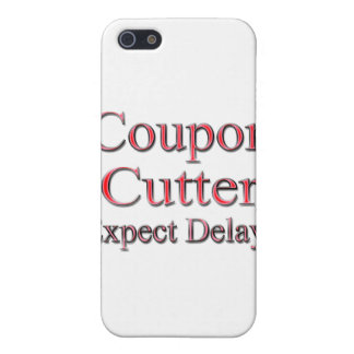 Coupon Cotter Expect Delays red iPhone SE/5/5s Cover