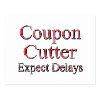 Coupon Cotter Expect Delays red Postcard