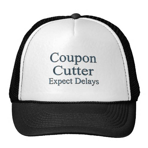 Coupon Cutters Expect Delays blu Trucker Hats