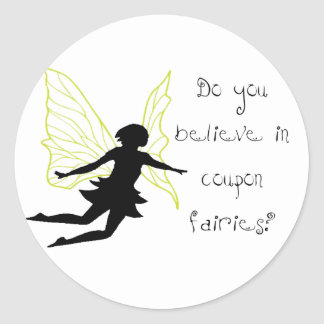 Coupon Fairies (green) Classic Round Sticker