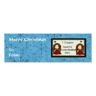 Coupon for Bedtime Story Gift Tag Christmas Double-Sided Mini Business Cards (Pack Of 20)