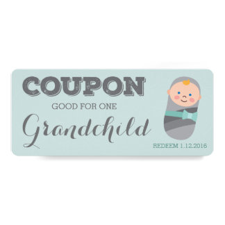 Coupon for Grandchild Blue Baby Boy Girl Card