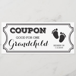 Coupon for one Grandchild Baby Announcement