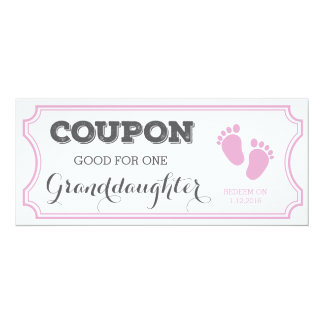Coupon for one Granddaughter Baby Announcement