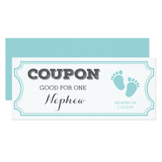 Coupon for one Nephew Baby Announcement
