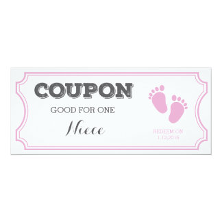 Coupon for one Niece Baby Announcement