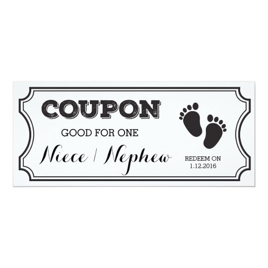 Baby Gift Ideas Coupon Code : Coupon for one niece or nephew baby announcement zazzle