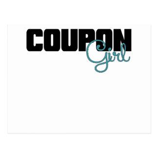Coupon Girl Blue.png Postcard