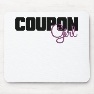 Coupon Girl Purple.png Mouse Pad