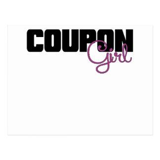 Coupon Girl Purple.png Postcard