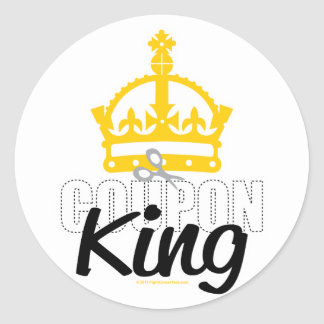Coupon King Classic Round Sticker