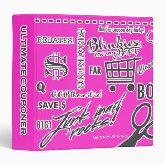 Coupon Lingo Organizer Hot Pink 3 Ring Binder