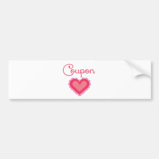 Coupon Love.png Bumper Sticker