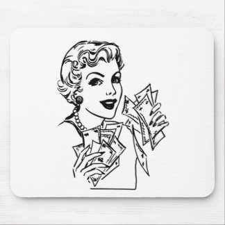 Coupon Money Lady - Add Your Text Mouse Pad