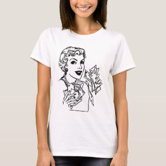 Coupon Money Lady - Add Your Text T-Shirt