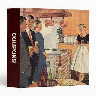 Coupon Organizer; Vintage Kitchen Party 3 Ring Binder
