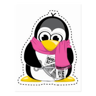 Coupon Penguin Postcard