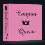 """Coupon Queen 3-Ring Binder<br><div class=""""desc"""">Organize all those coupons in the super cute Coupon Queen binder with your name on the spine. Customize to your favorite color. Looks great with The Happy Nest&#39;s Coupon Queen Tote.</div>"""