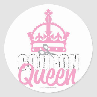 Coupon Queen Classic Round Sticker