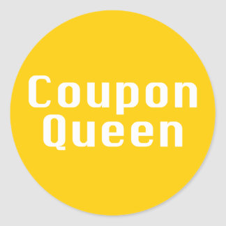 Coupon Queen Gifts Classic Round Sticker