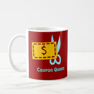 Coupon Queen Classic White Coffee Mug