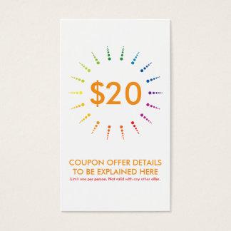 coupon rainbowBurst Business Card