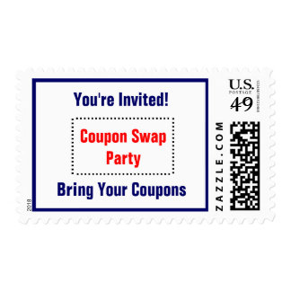 Coupon Swap Party Postage - red, white and blue