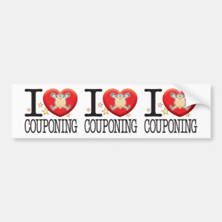 Couponing Love Man Bumper Sticker