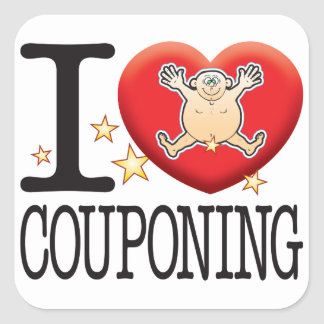 Couponing Love Man Square Sticker