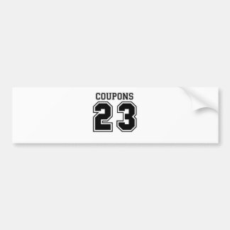 COUPONS 23.png Bumper Sticker