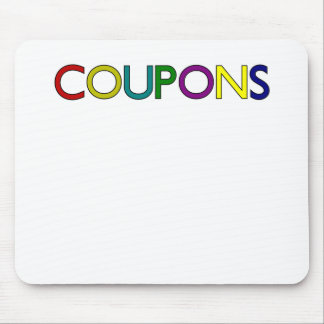 COUPONS COLORFUL.png Mouse Pad
