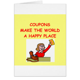COUPONS GREETING CARD
