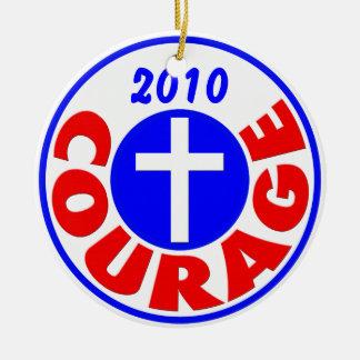 Courage 2010 ceramic ornament