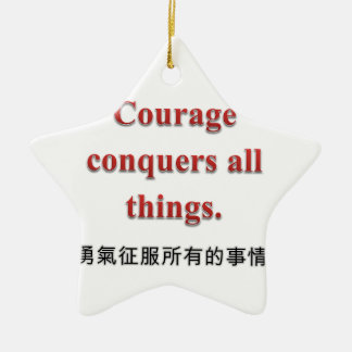 Courage Apparel and Gift Items Double-Sided Star Ceramic Christmas Ornament