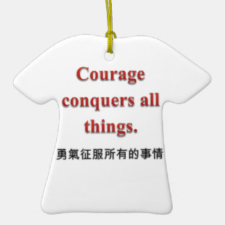 Courage Apparel and Gift Items Double-Sided T-Shirt Ceramic Christmas Ornament