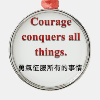 Courage Apparel and Gift Items Round Metal Christmas Ornament