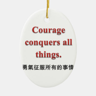 Courage Apparel and Gift Items Double-Sided Oval Ceramic Christmas Ornament