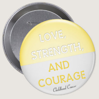 Courage Badge Childhood Cancer (Yellow) Button
