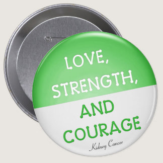 Courage Badge Kidney Cancer (Green) Pinback Button