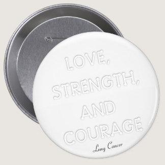 Courage Badge Lung Cancer (White) Button