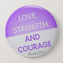 Courage Badge Pancreatic Cancer (Purple) Pinback Button