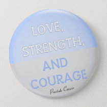 Courage Badge Prostate Cancer (Pale Blue) Pinback Button