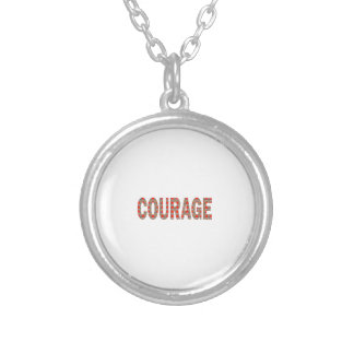 COURAGE: Brave Kind Leader Champion LOWPRICES GIFT Round Pendant Necklace