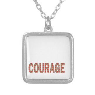 COURAGE: Brave Kind Leader Champion LOWPRICES GIFT Square Pendant Necklace
