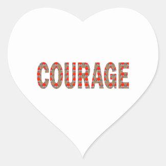 COURAGE: Brave Kind Leader Champion LOWPRICES GIFT Heart Sticker