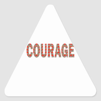 COURAGE: Brave Kind Leader Champion LOWPRICES GIFT Triangle Sticker