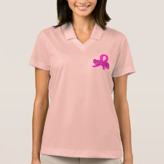Courage Breast Cancer Nike Polo Shirt, Pink/Medium